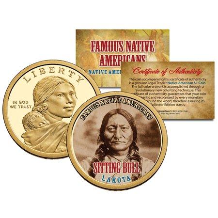 SITTING BULL *Famous Native Americans* Sacagawea Dollar US $1 Coin LAKOTA