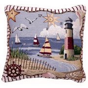 Coastal Memories Decorative Tapestry Throw Pillow
