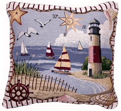 Coastal Memories Decorative Tapestry Throw Pillow