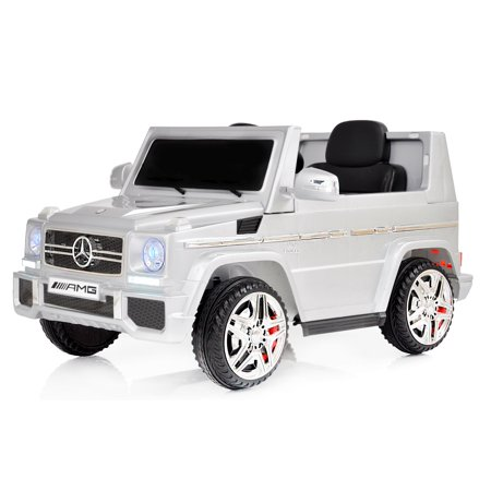 Car For Kids >> 12v Powered Mercedes Amg G65 Ride On Electric Car For Kids With Remote Control Led Lights Mp3 Leather Seat Silver