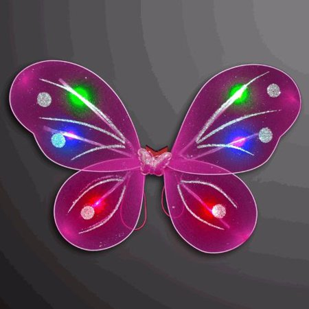 Light Up Fuchsia Fairy Butterfly Wings