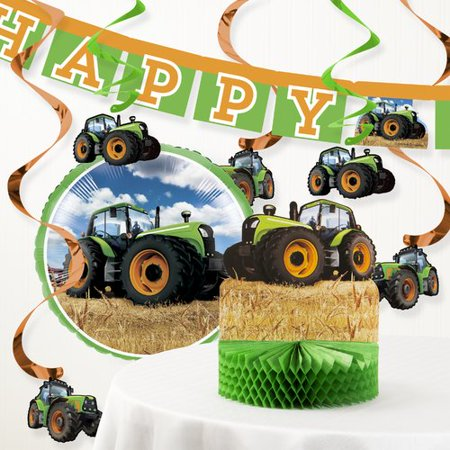 Tractor Birthday Party Decorations (The Party Aisle Tractor Time Birthday Party Decoration)