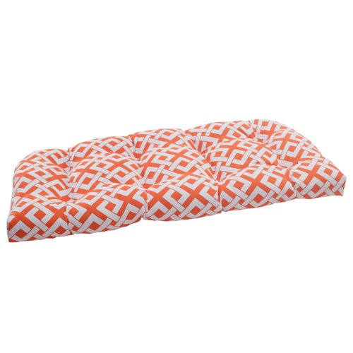 Pillow Perfect Boxin Outdoor Loveseat Cushion