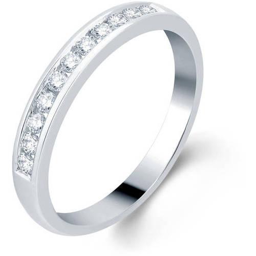 1/4 Carat T.W. Round Diamond 10kt White Gold Wedding Band, I-J/I2-I3