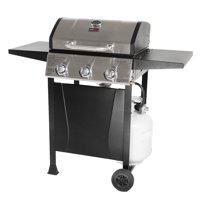 Grill Boss 3 Burner Gas Grill with Top Cover and Shelves
