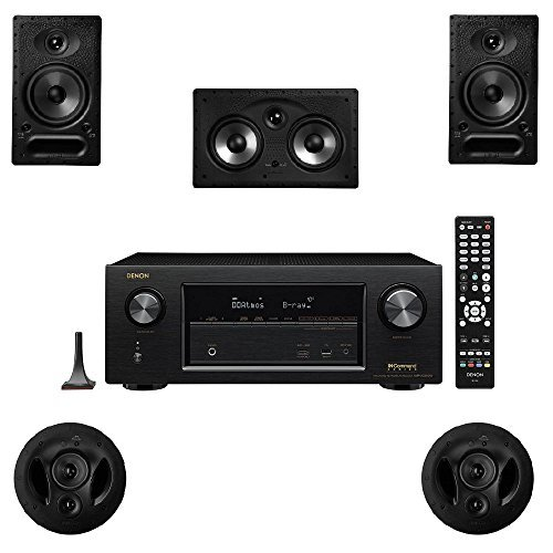 Polk Audio 65-RT 5 Channel Speaker Package with 90-RT and Denon AVR-X2300W AV Receiver by Polk Audio