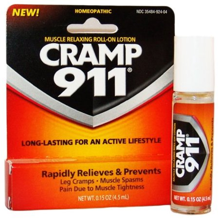 2 Pack - Cramp 911 Muscle Relaxing Roll-on Lotion 0.15oz