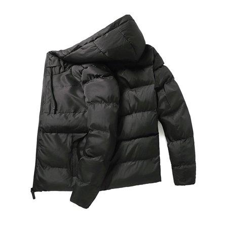 Men's Winter Warm Hoodie Puffer Bubble Coat Quilted Padded Jacket Windbreaker