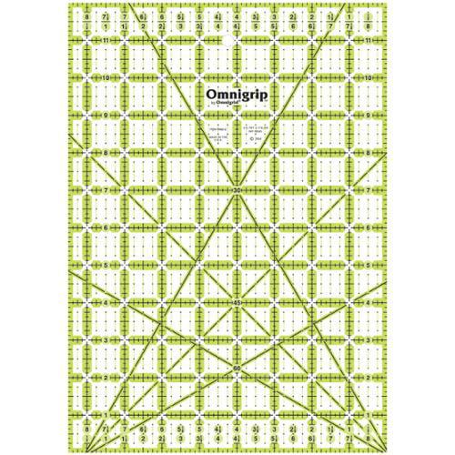 """Omnigrip Non-Slip Quilter's Ruler-8-1/2""""X12"""""""