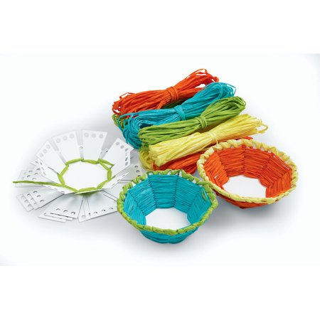 Colorations Basket Weaving Craft - Kit for 12 (Item # - Paper Basket Weaving