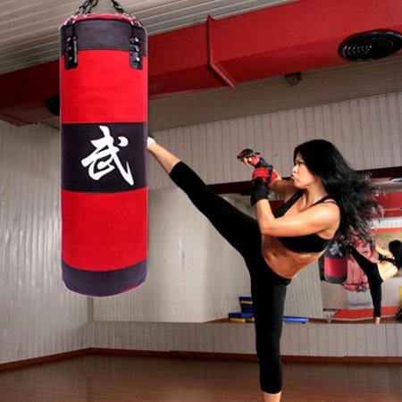 Zimtown Punching Bag with Chains Sparring MMA Boxing Training Heavy (Empty) Two Choices ()