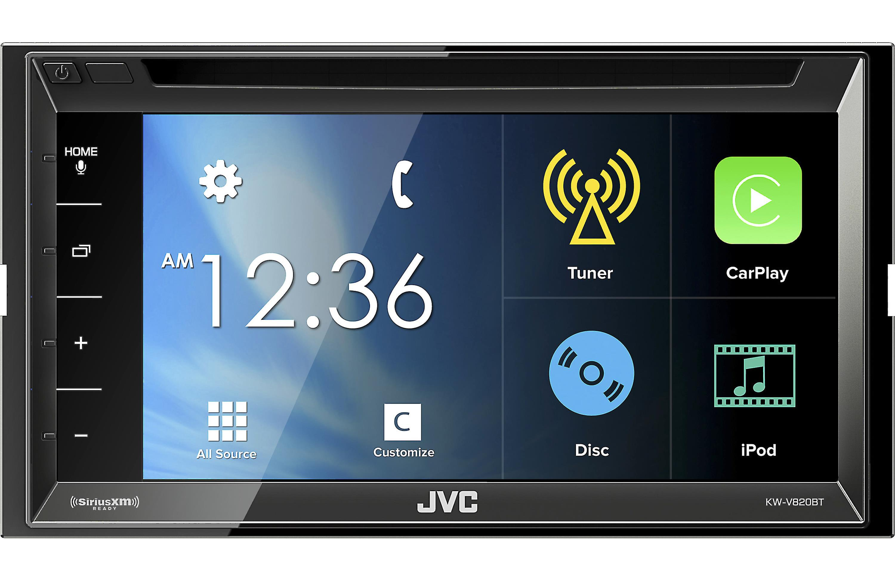 JVC KW-V820BT Apple CarPlay Receiver with Steering Wheel Interface and Sirius XM Tuner & Back Up Camera by JVC