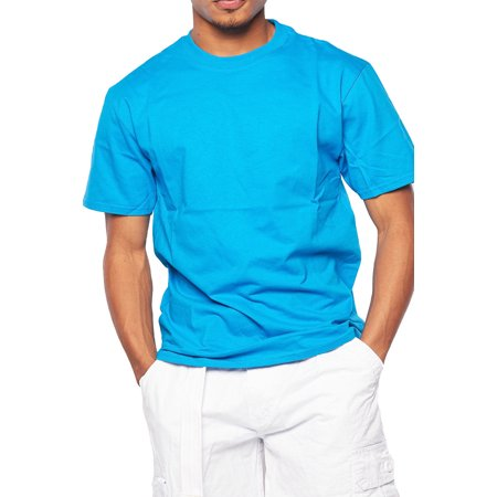 Mens Basic Solid Short Sleeve Round Neck T-Shirts (Mens Round Neck)