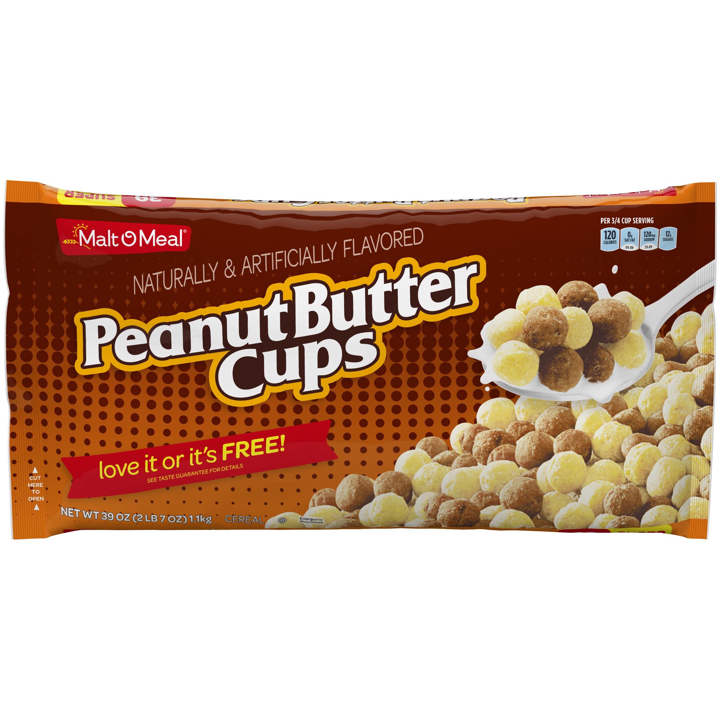 Malt-O-Meal Breakfast Cereal, Peanut Butter Cups, 39 Oz