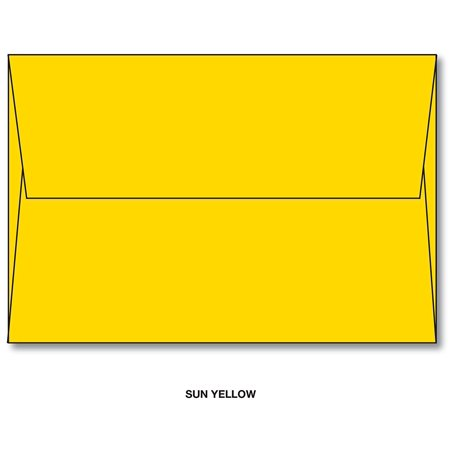 sun yellow a7 bright color envelopes 5 1 4 x 7 1 4 for 5x7