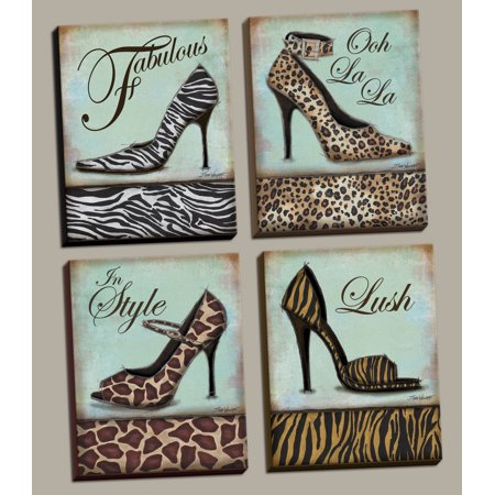 Stretched Canvas Poster - Fashion Shoe - mini, Mini Prints Art Print Poster by Todd Williams, 8X10 set of 4; Stretched Canvases Ready to hang on your wall!
