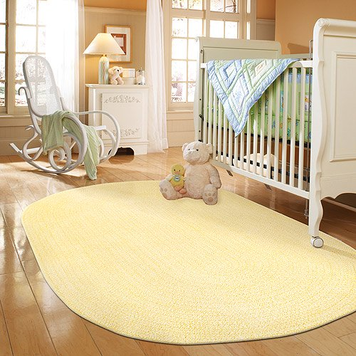 Spring Garden Braided Rug Yellow