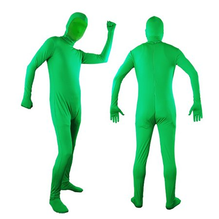 Loadstone Studio Photo Video Chromakey Green Suit Green Chroma Key Body Suit for Photo Video Effect, (Chroma Key Digital Backgrounds)