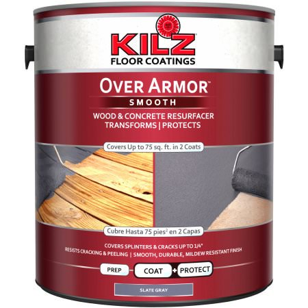 KILZ Over Armor Wood/Concrete Coating, 1 gallon (Best Deck Over Paint)
