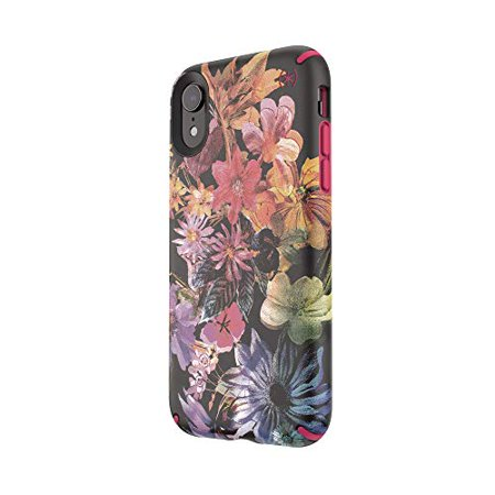 Speck 117075-7557 Products Presidio Inked iPhone XR Case, DigitalFloral/Cerise Red