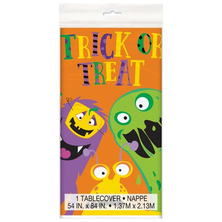Silly Monsters Halloween Plastic Tablecloth, 84 x 54 in, 1ct](Halloween Tablecloth Ideas)