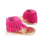 Wassery Baby Girls Casual Tassel Sandals Summer Princess Non-slip Flat First Walkers 0-18M