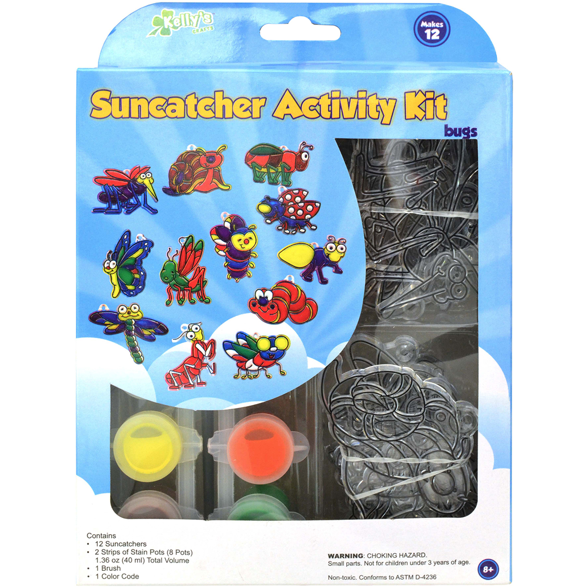 Suncatcher Group Activity Kit Insects 12/Pkg