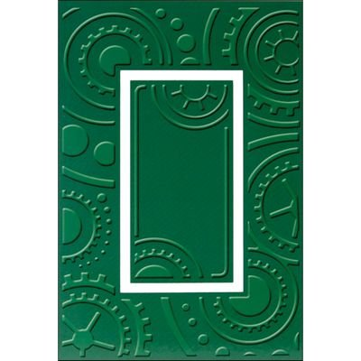Provo Craft Plus A2 Embossing Folder, Cogs and Wheels, Bring any project to life by adding texture and style By Cuttlebug Cuttlebug New Embossing Folder