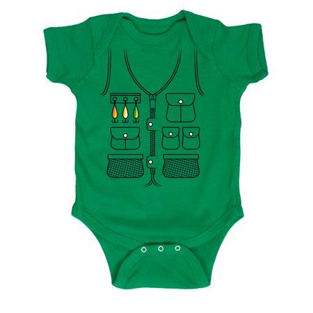 Fishing vest tuxedo infant one piece for Toddler fishing vest