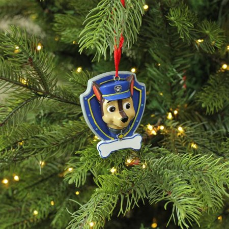 Paw Patrol Christmas Ornaments Personalized.2 75 Paw Patrol Chase Character Christmas Ornament For Personalization