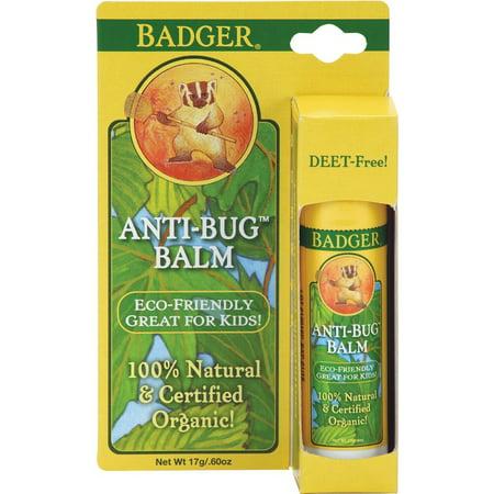 Anti Bug Balm Stick (Badger Balm Anti-bug Travel Stick .60 Oz Hang Tag Box, 0.6 Ounce )