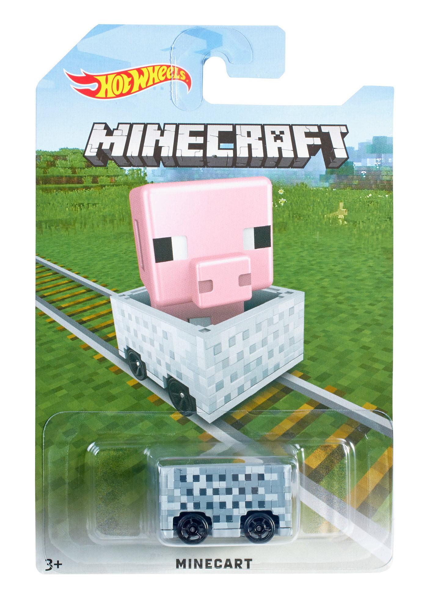 Hot Wheels Minecraft Pig Minecart by Mattel
