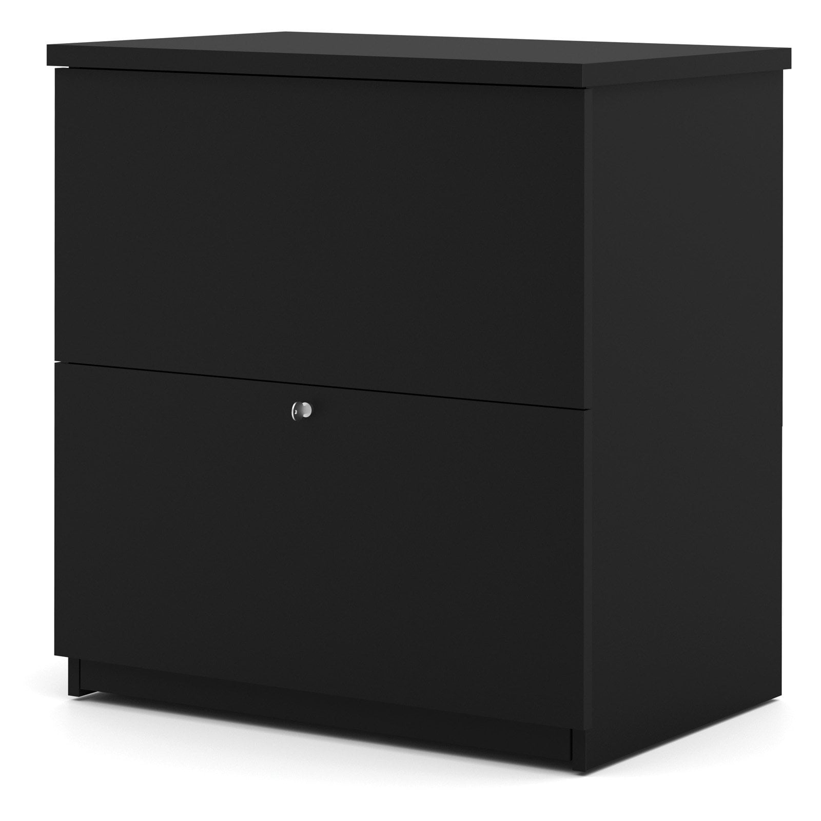 Bestar 2 Drawer Lateral Wood Lockable Filing Cabinet, Black by Bestar