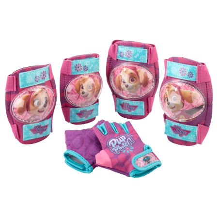 Paw Patrol Skye Hand, Elbow and Knee Pad Set for Kids, Bike, Scooter