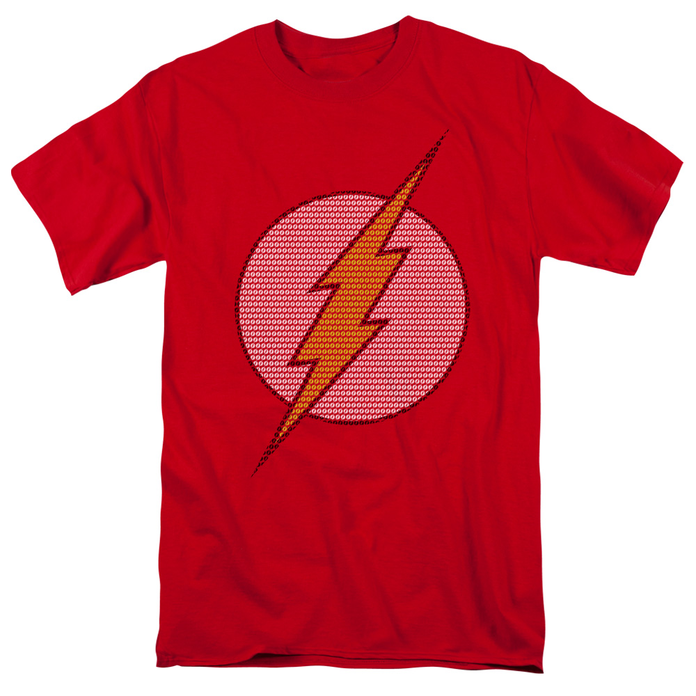 DC Comics Men's  Flash Little Logos T-shirt Red