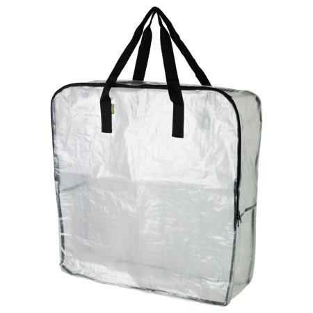 DIMPA  - Extra Large Clear Storage Bag for Clothing Storage, Under the Bed Storage, Garage Storage, Recycling Bags - Large Underbed Storage