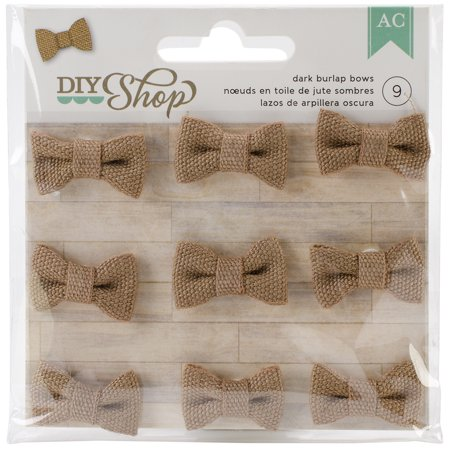 American Crafts Diy Shop Collection Burlap Bows Dark - Crafts With Burlap