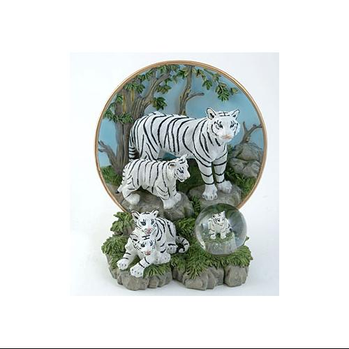 White Tiger Plate with Globe