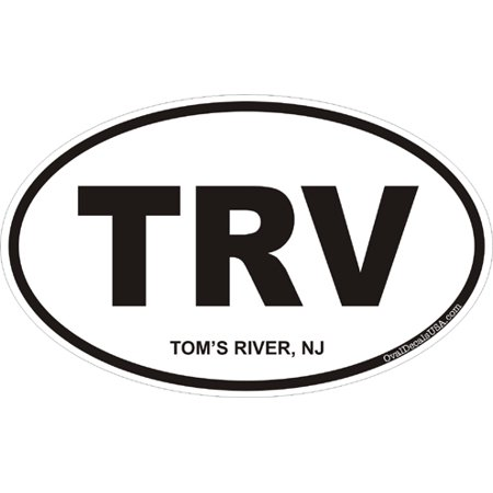 3.8 Inch Tom's River New Jersey Oval Decal