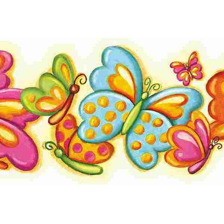 877148 Bubbly Butterflies Double Diecut Wallpaper Border  CK83011B ()