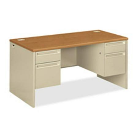 Left Pedestal Desk w- Lock- 72in.x36in.x29-.50in.-