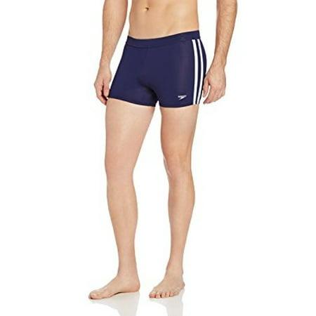 Speedo Men's Xtra Life Lycra Shoreline Square Leg Swimsuit, Nautical Navy, (Speedo Mens Shoreline Square Leg)