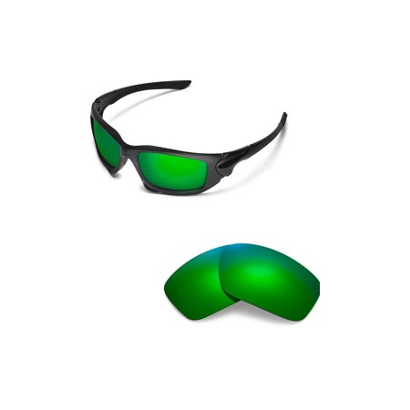 fdd07144d Walleva - Walleva Emerald Polarized Replacement Lenses for Oakley Scalpel  Sunglasses - Walmart.com