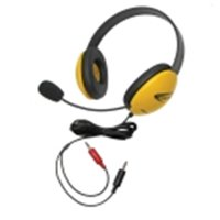 Califone 40 Mw Listening First Headset With Dual Plugs - Yellow
