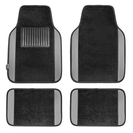 FH GROUP Full Set Premium Carpet Floor Mats, (Gray Carpet Floor Mats)