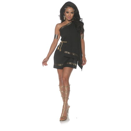 Black Toga Womens Adult Greek Roman Goddess Halloween Costume