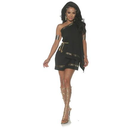 Black Toga Womens Adult Greek Roman Goddess Halloween Costume
