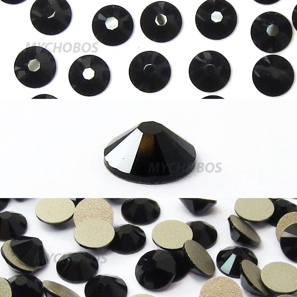 JET (280) black Swarovski NEW 2088 XIRIUS Rose 20ss 5mm flatback No-Hotfix rhinestones ss20 144 pcs (1 gross) *FREE Shipping from Mychobos (Crystal-Wholesale)*