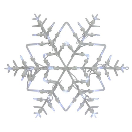 Northlight 18 in. Lighted Snowflake Window Silhouette Christmas Decoration - Set of 4 (Christmas Decorations Cheap)