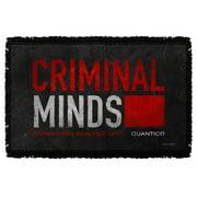Criminal Minds Crime Drama Cbs Tv Series Bau Quantico Logo Woven Throw Blanket